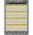 new year 2012 calendar vector image vector image