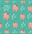 new year 2019 seamless pattern with pigs vector image