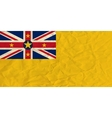 Niue paper flag vector image vector image