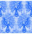 Pattern with stylize silhouettes of tulips vector image vector image