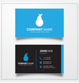 Pear icon business card template