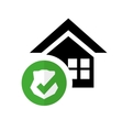 pictogram home security protection shield vector image