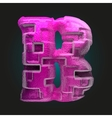 pink plastic figure b vector image vector image