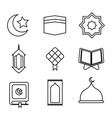ramadhan icon outline vector image