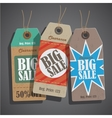 Sale tags set vintage vector image