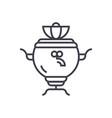 samovar line icon sign on vector image