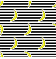 seamless pattern with bananas on black and vector image vector image