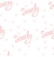 seamless pattern with handwriting text vector image vector image