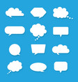 set blank white speech bubbles and text boxes vector image