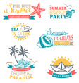 set of summer labels and badges vector image