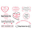 set of valentines day symbols and icons vector image vector image
