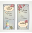 Set of vertical banners wedding invitations with vector image