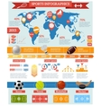 Sport Infographics Set vector image vector image