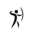Sports icon of archery monochrome vector image vector image