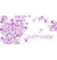 spring flowers frame card watercolor vector image vector image