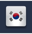 Square icon with flag of South Korea vector image