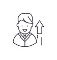 successful manager line icon concept successful vector image vector image