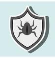 symbol virus warning alert vector image vector image