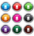 tag with bar code set 9 collection vector image vector image