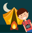 tent camping design vector image