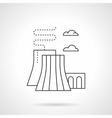 Thermal power station flat line icon vector image vector image