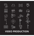 video production editable line icons set on vector image vector image