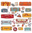 Vintage suitcases set Travel vector image