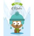 welcome winter design vector image vector image