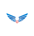 wing abstract bird emblem logo vector image vector image