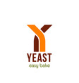yeast easy bake emblem vector image
