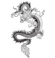 chinese dragon black white vector image