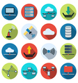 Network flat icons vector image