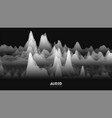 3d echo audio wavefrom spectrum abstract vector image vector image