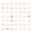 49 delivery icons vector image vector image