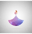 Abstract creative concept icon of diwali vector image