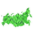 abstract russia map consists of squares vector image