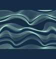 abstract wave or wavy line blue sea pattern vector image