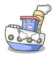 angry ship mascot cartoon style vector image vector image