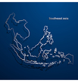 Asean map2 vector image vector image