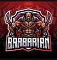 barbarian esport mascot logo design vector image