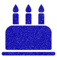 birthday cake icon grunge watermark vector image