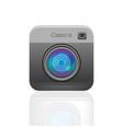 black color photo camera icon vector image vector image