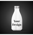 Blank Milk or Juice Pack isolated on black vector image vector image