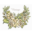 Bouquet of roses vintage vector image vector image