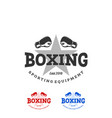 boxing and martial arts logo badge or label in vector image