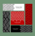 business cards set abstract geometric design vector image vector image