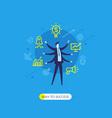 businessman development startup vector image vector image