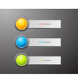 Button and labels vector image vector image