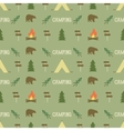 Camping elements pattern Camping seamless vector image vector image