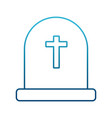 cemetery tombstone isolated vector image